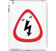 Guitar Pick / Plectrum: Traffic sign high voltage iPad Case/Skin