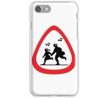 Guitar Pick / Plectrum: Traffic sign school ahead iPhone Case/Skin