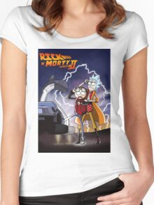 Rick and Morty Women's Fitted Scoop T-Shirt
