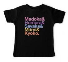 Contractually Obligated Magical Girls - Madoka goes Helvetica Baby Tee