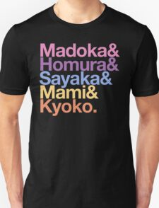 Contractually Obligated Magical Girls - Madoka goes Helvetica T-Shirt