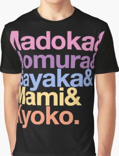 Contractually Obligated Magical Girls - Madoka goes Helvetica Graphic T-Shirt