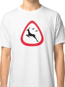 Guitar Pick / Plectrum: Traffic sign wild animal crossing Classic T-Shirt