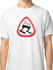 Guitar Pick / Plectrum: Traffic sign slippery road Classic T-Shirt