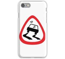 Guitar Pick / Plectrum: Traffic sign slippery road iPhone Case/Skin