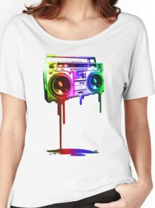 Melting Boombox (digital rainbow color) Women's Relaxed Fit T-Shirt