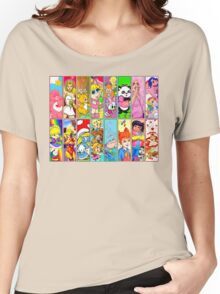 80s Girls Totally Radical Cartoon Spectacular!!! Women's Relaxed Fit T-Shirt