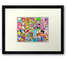 80s Girls Totally Radical Cartoon Spectacular!!! Framed Print
