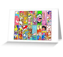 80s Girls Totally Radical Cartoon Spectacular!!! Greeting Card