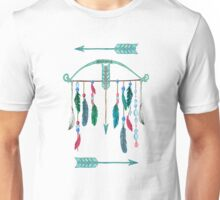 Feathers, Bow, and Arrows Watercolor Unisex T-Shirt