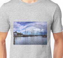 Tall Ships in Whitehaven Harbour Unisex T-Shirt