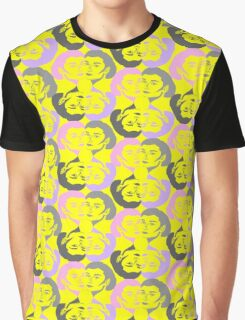 Audrey Violet Pink Yellow Pattern Graphic T-Shirt