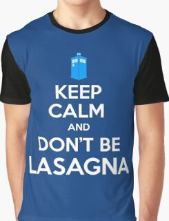 Doctor Who - Don't Be Lasagna Graphic T-Shirt