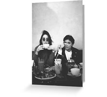 Kendall Jenner and Kylie Jenner Tea Classy Greeting Card
