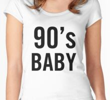 90's Baby Women's Fitted Scoop T-Shirt