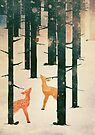Winter Deer by Sybille Sterk