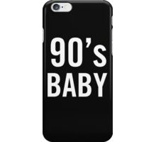 90's Baby iPhone Case/Skin