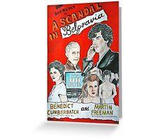 scandal in belgravia vintage poster Greeting Card