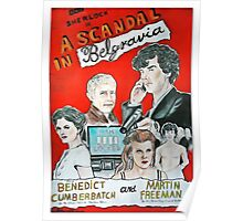 scandal in belgravia vintage poster Poster