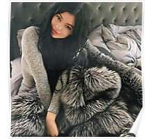 Kylie Jenner Furry Bed Poster