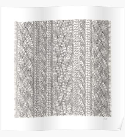 Cable Knit Poster