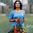Sophia Loren holding a basket by Dulcina