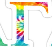 Alpha Gamma Delta - Tie Dye Sticker