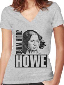 Julia Ward Howe Women's Fitted V-Neck T-Shirt