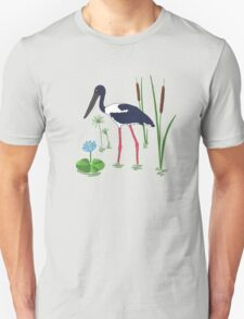 JABIRU - Black-Necked Stork T-Shirt