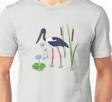 JABIRU - Black-Necked Stork Unisex T-Shirt