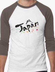 japan 1 Men's Baseball ¾ T-Shirt