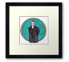 .9th Doctor. Framed Print