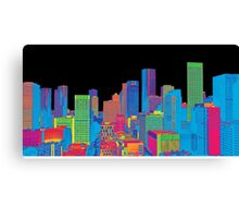 Houston Skyline in Color Canvas Print