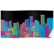 Houston Skyline in Color Poster