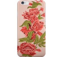 Bountiful Floral Reduction Screenprint iPhone Case/Skin