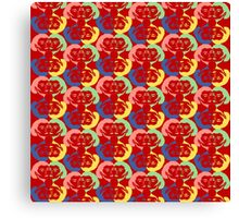Audrey Maroon Red Pink Green Blue Yellow Canvas Print