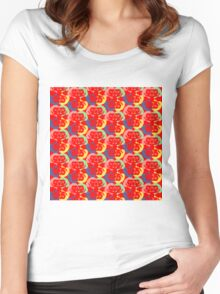 Audrey Red Pink Green Violet Yellow Women's Fitted Scoop T-Shirt