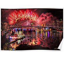 Sydney NYE Fireworks 2015 # 15 Poster