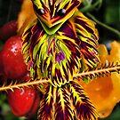 Fuzzy Bird on Thorn Branch by GolemAura
