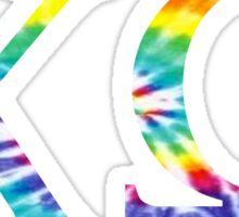 Chi Omega - Tie Dye Sticker