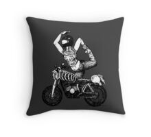 Women Who Ride - Powered by the Blood of my Enemies  Throw Pillow