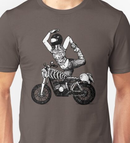 Women Who Ride - Powered by the Blood of my Enemies  Unisex T-Shirt