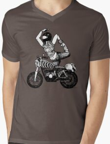 Women Who Ride - Powered by the Blood of my Enemies  Mens V-Neck T-Shirt