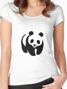 Panda animation Women's Fitted Scoop T-Shirt