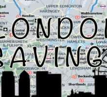 London Jar Sticker