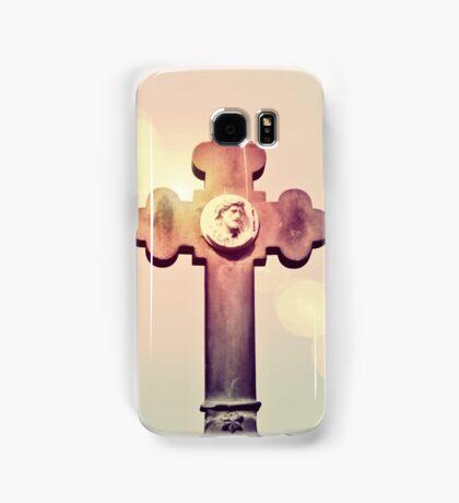 Gravestone Cross Lens Flare Samsung Galaxy Case/Skin