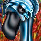 Melancholy Blue Bird by GolemAura
