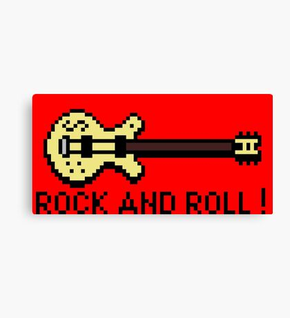 Guitar - Rock And Roll Canvas Print