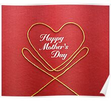 Crafty Yarn and Fabric Happy Mother's Day Poster