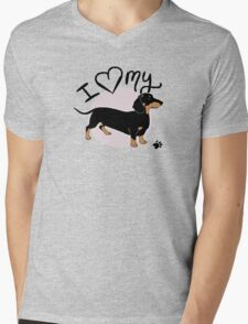 I Love My Black & Tan Dachshund T-Shirt